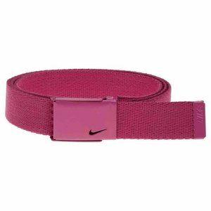 Nike Golf Web Belt Skinny Adjustable Size Hot Pink